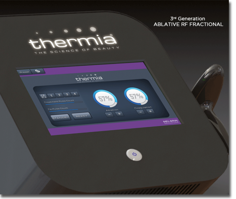 Thermia® with patented technology ICF (Intelligent Combined Function) technology is Asia's first and only ablative RF Fractional device that combines ablation, coagulation and thermal effect with minimal damage to the epidermis with intelligent function.